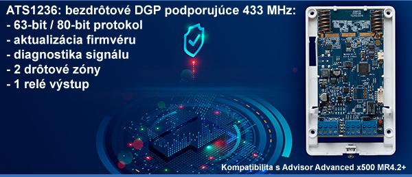 ATS1236: nový bezdrôtový DGP 433 MHz